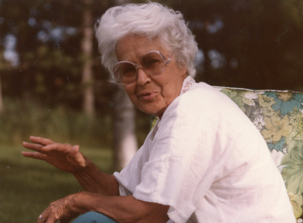 The author's mother in 1986. She died in 1997.