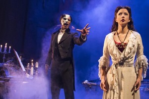 Derrick Davis and Katie Travis in The Phantom of the Opera. Photo by Matthew Murphy