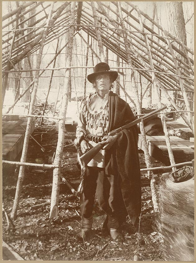 Bagone-giizhig, an Ojibwe Indian, became a central figure in the last official conflict between the U.S. military and American Indians in 1898 near Walker, Minn. Photos courtesy of the Minnesota Historical Society.