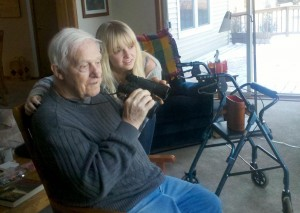 Norman Eklund and his granddaughter Britt Logan