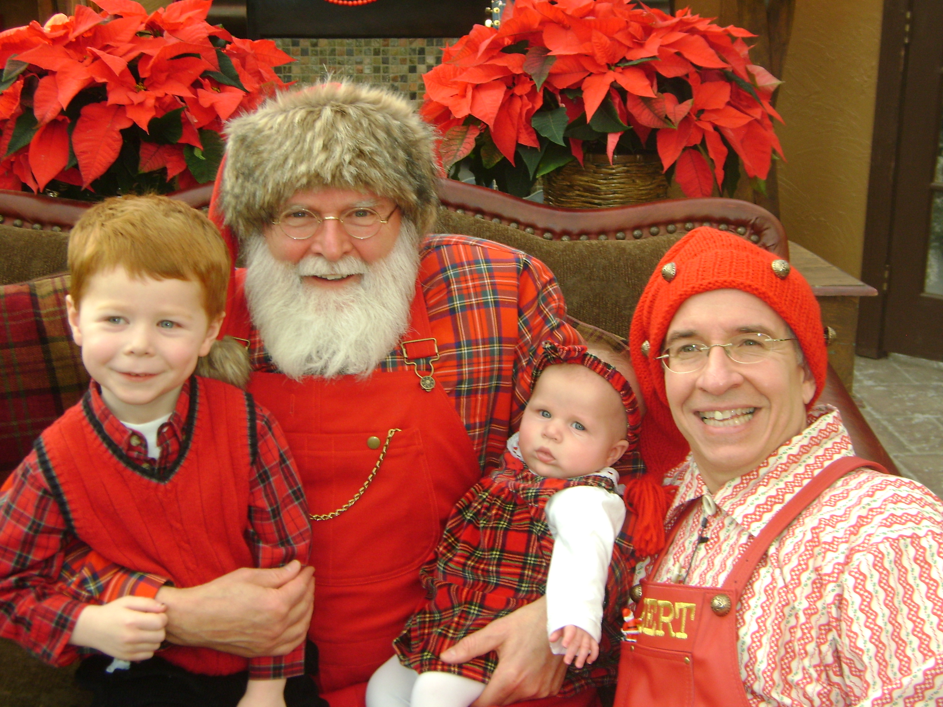 Santa, Albert, and the Mimick children