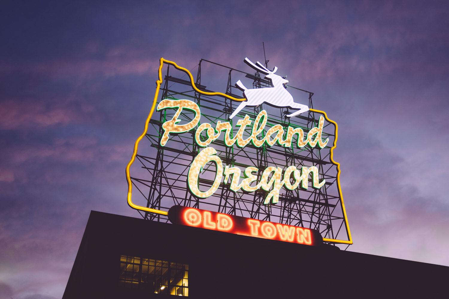Portland Oregon Sign Photo By Zack Spear