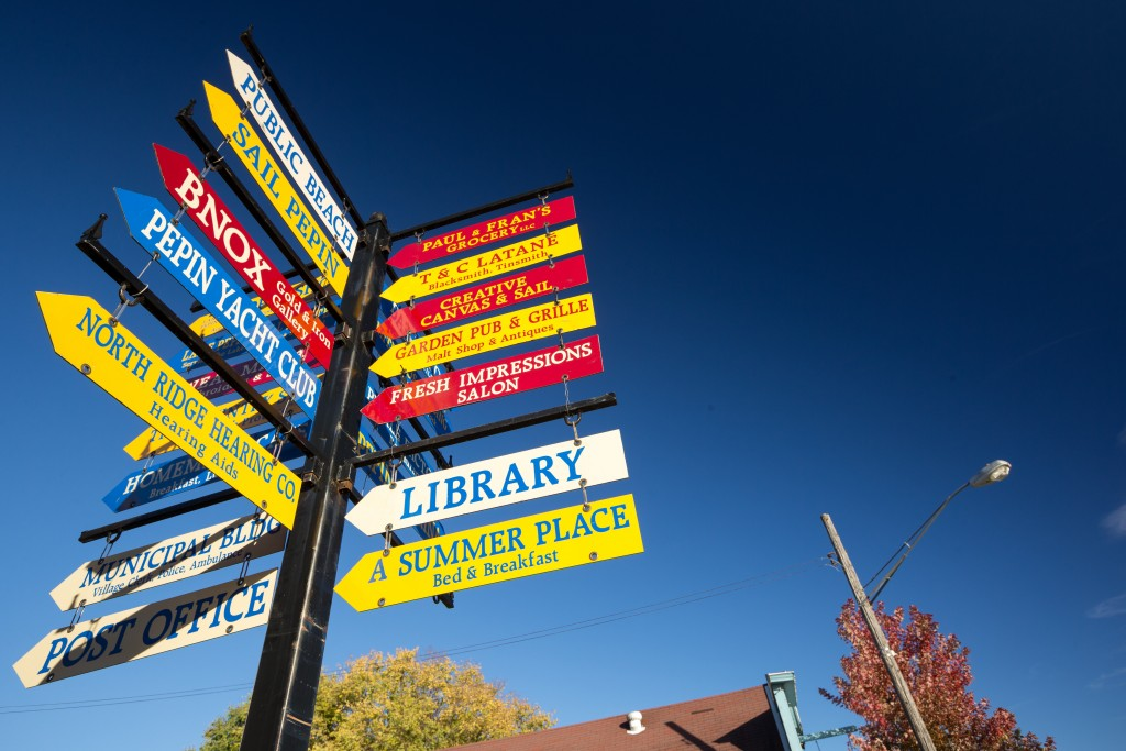 Pepin Downtown Signs