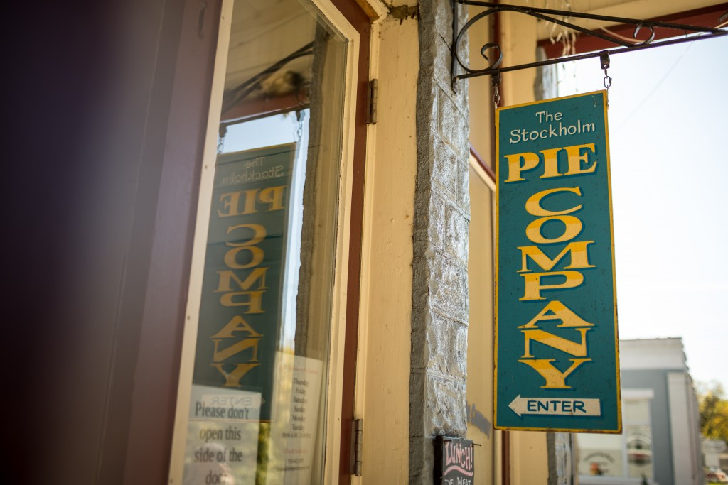 Great River Road The Stockholm Pie Company Sign