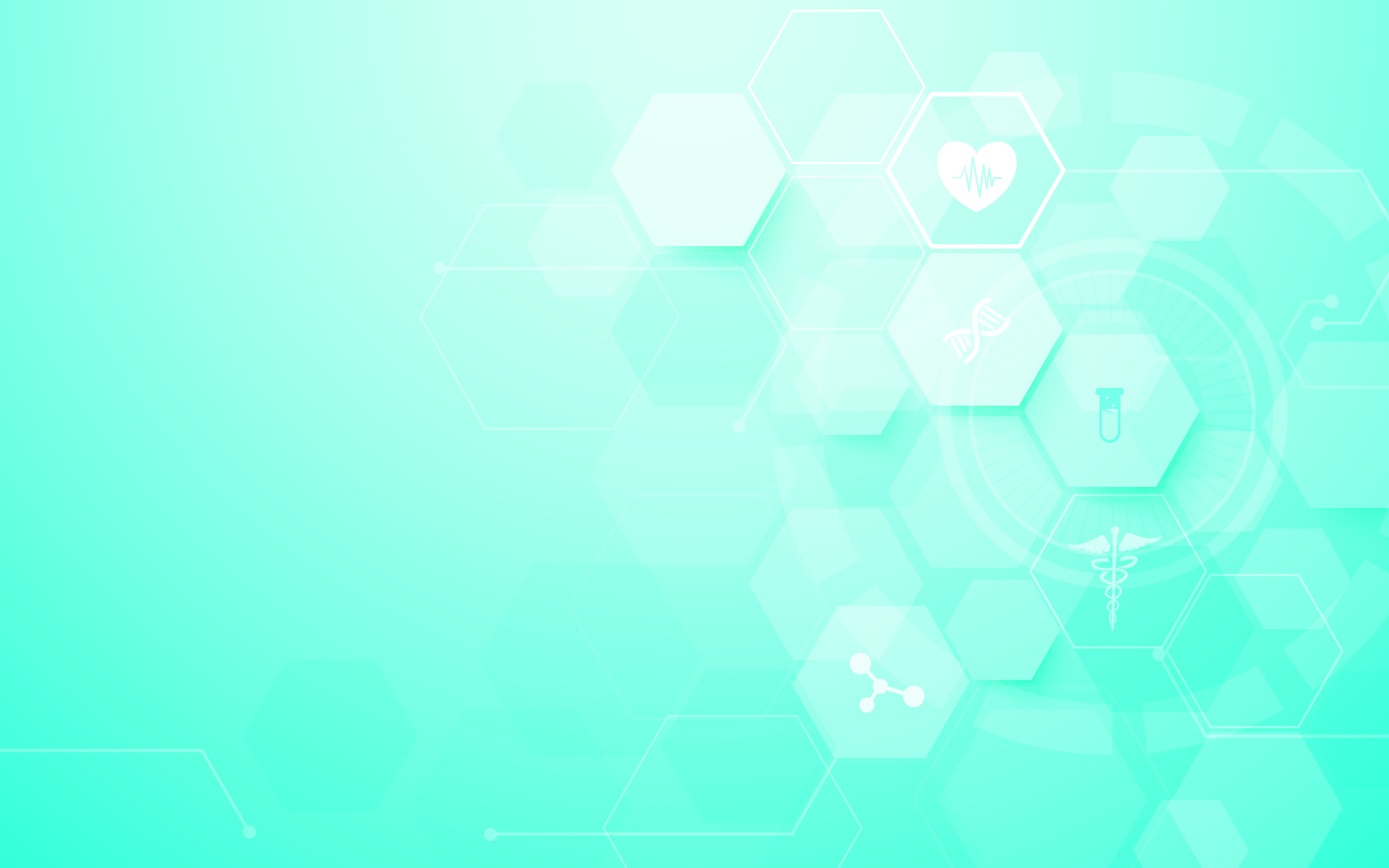 Abstract geometric hexagons shape medicine and science concept
