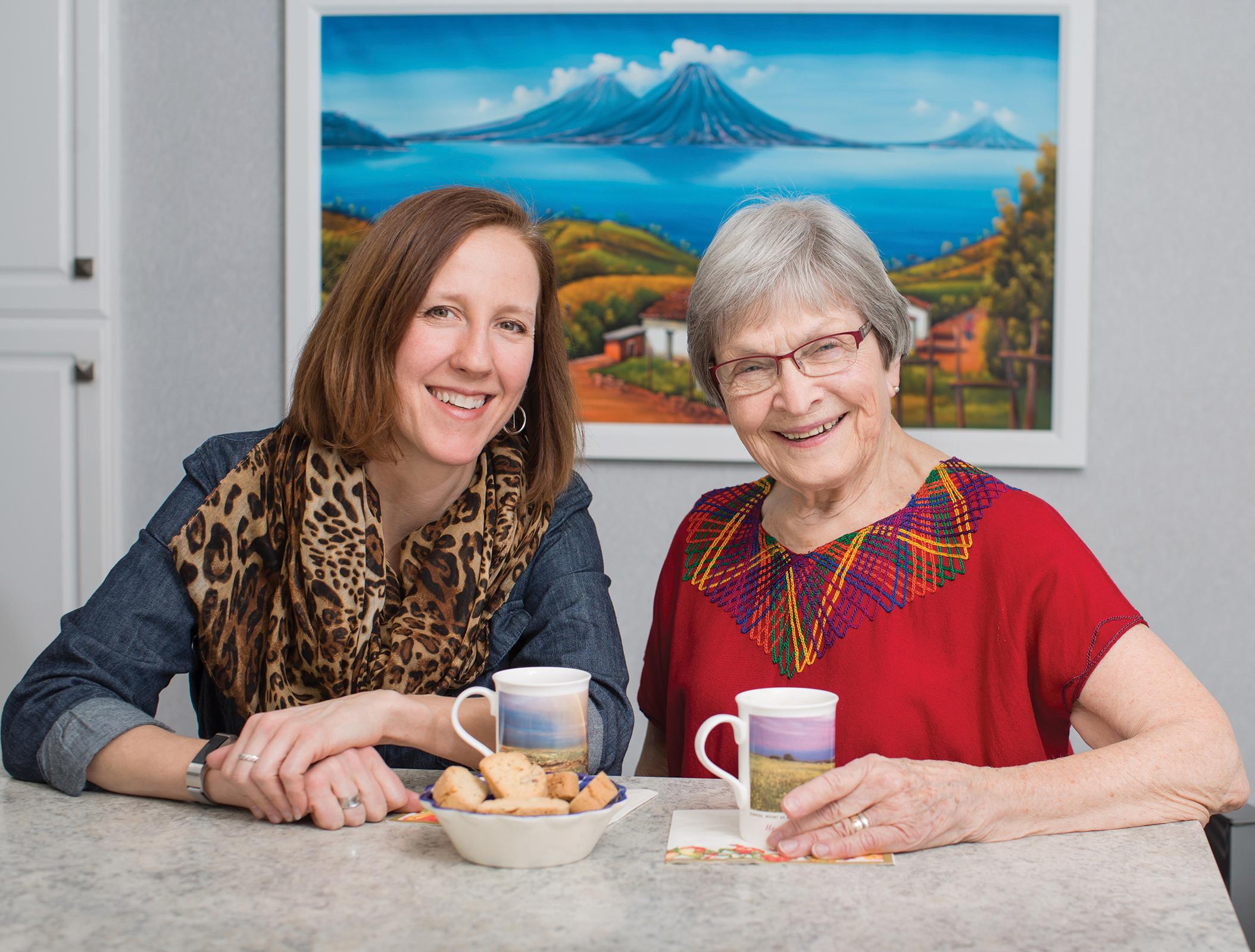 Elaine Christiansen and Sarah