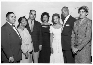 Nellie Stone Johnson with members of the NAACP